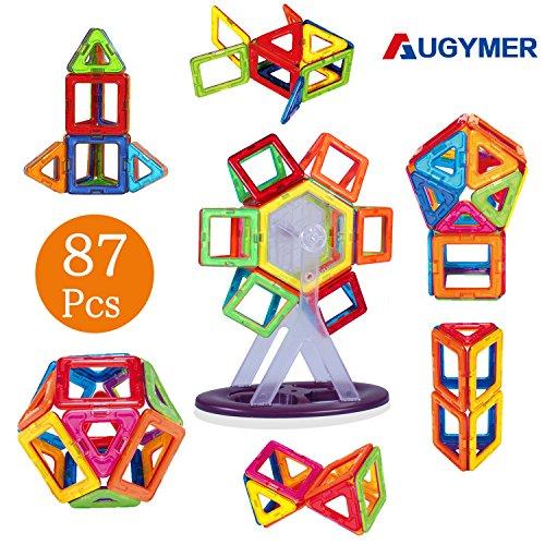 マグネットブロック 磁気おもちゃ 知育玩具 子供プレゼント 磁石ブロック マグネット3d立体パズル 外しにくい 磁石付き積み木 カラフル磁性構築ブロックmagnet 磁気建設玩具 AUGYMER想像力と創造力を育てる子供のおもちゃ 男の子 女の子 おもちゃ 入園 お祝いプレゼント クリスマスギフト モデルDIY(車輪・支架セット付き)