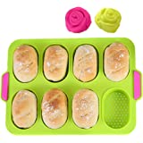 KeepingcooX Mini Baguette Baking Tray, 11 x 9.5 in, Non-Stick Perforated Pan - Bread Crisping Tray, Loaf Baking Mould, French