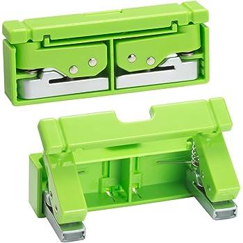リヒトラブ コンパクトパンチ 2穴 黄緑 P1040-6