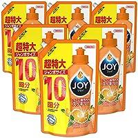 【ケース販売】ジョイ コンパクト 食器用洗剤 バレンシアオレンジの香り 詰め替え ジャンボ 1445mL×6個