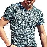 (メイク トゥ ビー) Make 2 Be メンズ ワイルド Tシャツ ミリタリー ストレッチ 薄手 KB66(22.DarkGreen_XL)