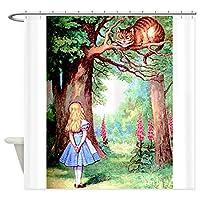 CafePress–アリスとチェシャ猫–装飾ファブリックシャワーカーテン