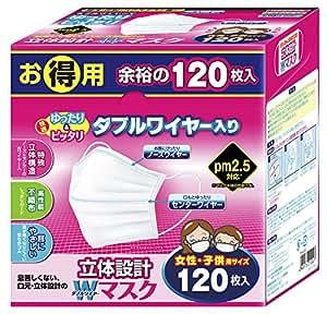 東京企画販売 立体設計Wワイヤーマスク女性・子供 120枚