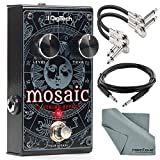 Digitech MOSAIC 12-String Effect Pedal and Accessory Bundle with Cables + Fibertique Cloth [並行輸入品]