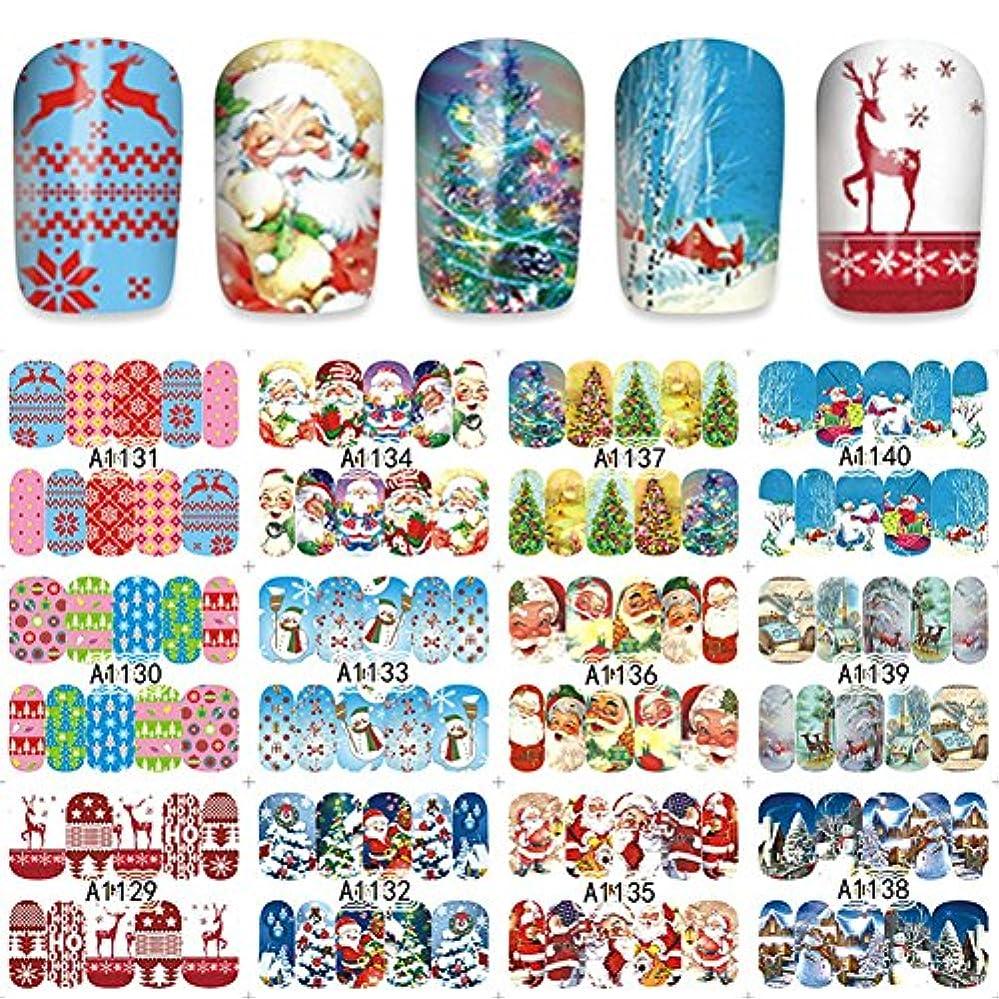 縫い目家具決定するwlgreatsp 12 1ではクリスマスネイルアートネイルステッカーDIY水移送雪だるまDIYネイルステッカー
