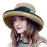 (シール)SEALVIA 日よけ帽子 旅行ハット 帽子レディースUV 紫外線対策 首筋 まですっぽりロングケープ 上品 【改良版】 小顔効果調整可能 UVカット 高品質 麦わら帽子 56-58cm 春夏秋