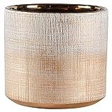 "Rivet Rustic Textured Stoneware Planter, 6.25""H, Bronze"