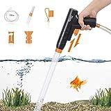 Aquarium Gravel Cleaner, New Quick Water Changer with Air-Pressing Button Fish Tank Sand Cleaner Kit Aquarium Siphon Vacuum C