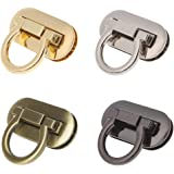 MISAZ Set of 8 Purse Twist Turn Locks, Ring Clasp Turn Lock Metal Hardware for DIY Handbag Shoulder Bag Closure Purse Making