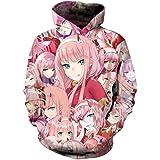 BoerMee Anime Darling Cosplay Costume FRANXX Zero Two Battle Face Sweatshirt Hoodie