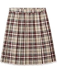 d52fb0575b8d92 (キューポップ)Cupop 裏地・アジャスター付きチェック柄プリーツスカート(スクール・