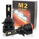 zodoo LEDヘッドライト HB4/9006 超ミニmini型 車検対応 切替 アメリカ CREE light source technologyチップ搭載 一体式 6000LMx2 28Wx2 6500K ホワイト DC9-32V 2個 M2-HB4