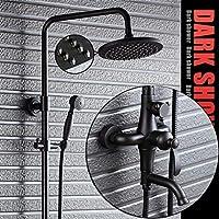浴室レインシャワーシステム、オイル擦れブロンズ/ブラックレインシャワーとハンドヘルド - 3つのアウトレットシャワーは、柔軟性を意味します - 壁掛け - 浴室用のモダンレインシャワーセット