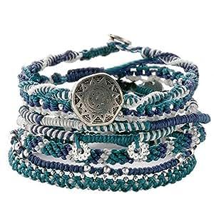 (ワカミ) wakami ブレスレット Earth Bracelet 7strands アクア WA9958