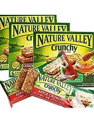 [ネイチャーバレー/Nature Valley] CANADIAN MAPLE SYRUP/ネイチャーバレークランチグラノーラバー42g5パックx3 Box - メープルシロップ(合計15袋)穀物バー/シリアル/栄養のバー...