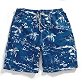 GAILANG(ガイラング) 水着 メンズ 海水パンツ サーフパンツ 短パン g5-ms01 パームツリー・ブルー L