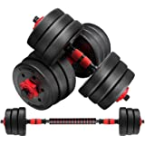 Adjustable Dumbbells Weights Dumbbells Set 15kg Dumbbells Set of 2 Dumbbell Hip Hitt Weight Training Exercise Workout Fitness