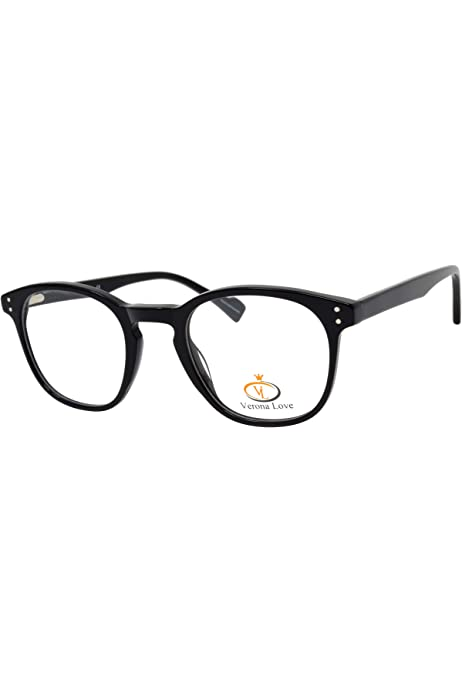 Fashion Black Round Optical Frames For Men And Women Replaceable Lens Non Prescription Eyeglasses Hand Made Designer Acetate Eyeglasses Cute Glasses Vintage Classic Round Frame Amazon Com Au Fashion