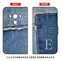 Coverfull 手帳型スマートフォンケース フォトデニム イニシャル E design by ARTWORK / for HTC J butterfly HTV31/au  AHTV31-IJTC-401-MCN1