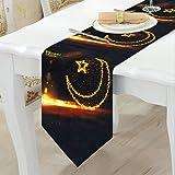 Wmbetter 12 x 70 Inch Eid Mubarak Table Runner Eid Decorations Happy Eid Mubarak 2019 Party Favors