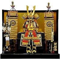 【五月人形】【平飾り】朱赤縅 大鎧平台飾り