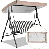 Replacement Canopy for Swing, Outdoor Swing Canopy Replacement Porch Top Cover Seat Furniture 3 Seater Waterproof Top Cover f