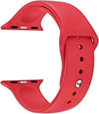 BAB® 38mm iwatchベルト 時計バンド 腕時計ベルトアップルウォッチ スポーツバンド ソフト 高級感 シリコーン 製 交換ベルト