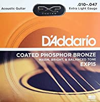 D'Addario EXP15 Coated Phosphor Bronze Extra Light×5SET アコースティックギター弦