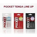 POCKET TENGA バラエティ セット【ウェイブライン/クリックボール/ブロックエッジの3種類】
