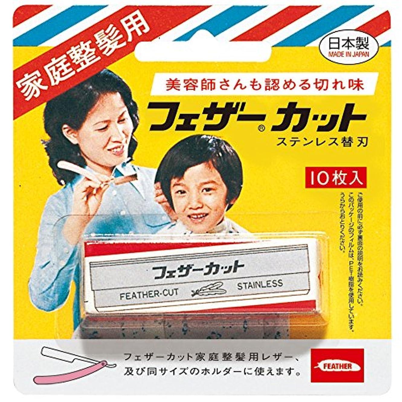 横向きニコチン参照フェザー 家庭整髪用カット 替刃 10枚入
