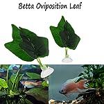 Tropical Hammock Aquariums Decor Betta Leaf Fish Oviposit Bed Artificial Plant