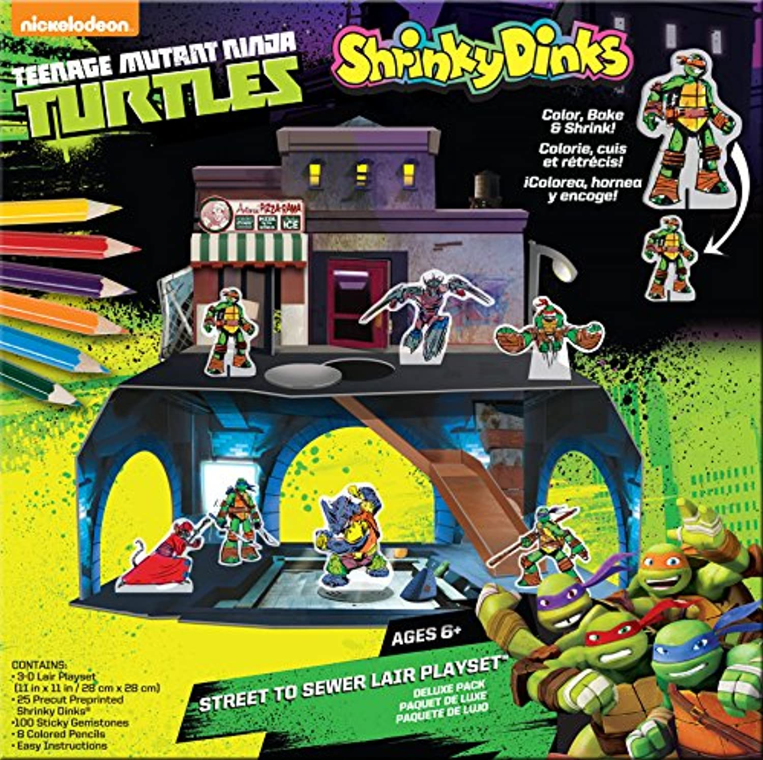 Teenage Mutant Ninja Turtles Shrinky Dinks Playset