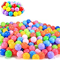 (5.5cm, 100pcs) - 100pcs 5.5cm Colourful Ocean Ball Soft Plastic Playing Ball Toy Fun Outdoor/Indoor Kids Pets Swim Pit Toy