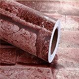 RUDOSTYLE DIY 壁紙 レンガ かんたん貼付 壁紙シール タイプ 45cm×10m (アンティーク ブラウン)