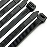 Cable Zip Ties Heavy Duty 12 inch Ultra Strong Plastic Wire Ties with 120 pounds Tensile Strength 100 Pieces Nylon Tie Wraps
