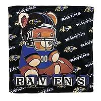 NFL Baltimore Ravensマイクロファイバータオル、16x 16インチ