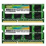 シリコンパワー ノートPC用メモリ  DDR3 1600 PC3-12800 SO-DIMM Mac対応 8GB×2枚 永久保証 SP016GBSTU160N22