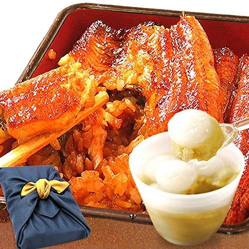 誕生日 プレゼント ギフト 食べ物 うなぎ 人気商品 グルメギフト 風呂敷包み 蒲焼き 3枚 スイーツ (お中元・白玉ぜんざい)
