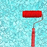 GTS エンボスローラー、液体壁紙壁アートアートペイント印刷珪藻土泥テクスチャアート塗料建設ツール5インチ GHJ (色 : A)