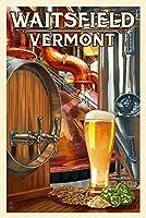 Waitsfield、バーモント州–The Art of Beer 12 x 18 Art Print LANT-50267-12x18