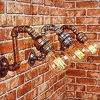 シャンデリアヴィンテージ工業用スチームパンクな壁取り付け用燭台水道管ライトe27エジソンソケット付き直径:30 Cm, WOZUIMEI
