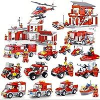 【aereo di carta】レゴブロック (LEGO) レゴ 互換性パーツ デュプロ 動物 恐竜 車 ブロック セット アイデアボックス (消防車セット)