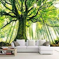 Lixiaoer 3D壁画壁紙自然の風景そびえ立つ木々写真壁紙用壁3Dリビングルームソファ背景紙-200X140Cm