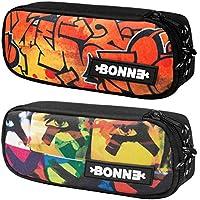 Bonne Pencil Case - Bargain Set of 2 Unisex Pencil Cases for Boys & Girls - Popular Designs - Bubbler & X-Eyes