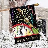 正月飾り 新年装飾新年あけましておめでとうございます掛かる旗ポーチ屋外屋内教室寮会社レストラン新年装飾(70 cm * 100 cm) (緑色)