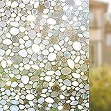Rabbitgoo 窓用フィルム 3Dガラスフィルム 目隠しシート 装飾フィルム 遮熱断熱 紫外線カット 水で貼れる 再利用可能 プライバシーガラスシート DIY (44.5 x 200cm)