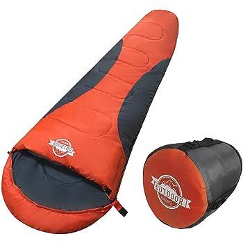 WIBERTA(ウィベルタ) 寝袋 シュラフ コンパクト スリーピングバッグ 軽量 マミー型 丸洗い可能 収納袋付き 最低使用温度-5度 4カラー
