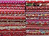 赤シリーズ カットクロス 花柄 はぎれセット パッチワーク DIY手芸用 30cm×20cm 40枚セット