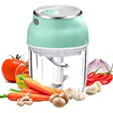 VOUM Electric Garlic Chopper Mini Food Chopper with USB,Portable Small Food Processor for Garlic/Chili/Ginger/Onion,Meat Grin