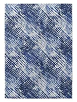 KAVKA DESIGNS Shibori Shower Area Rug, (Blue), Size: 2x3x.5 - (MGTAVC2138RUG23) [並行輸入品]